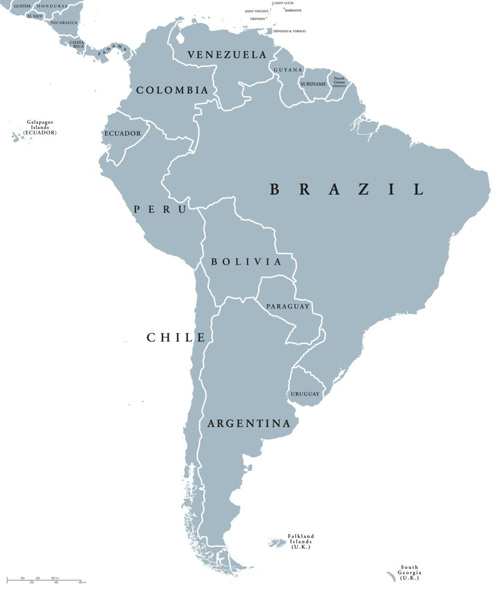 South America Cities Map, South America, South America Cities Map