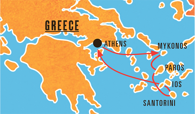 Island hopping tour greece shandon travel free time gumiabroncs Gallery